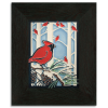 Winter Cardinals in Ebony Frame