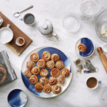 Marble Indigo Platter and Dessert Plates