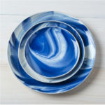 Marble Indigo three plates top