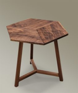 Black Walnut Rhombus Side Table