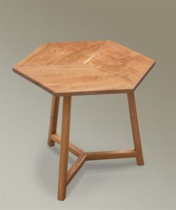 Cherry Rhombus Side Table