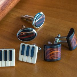 Wood Cuff Links