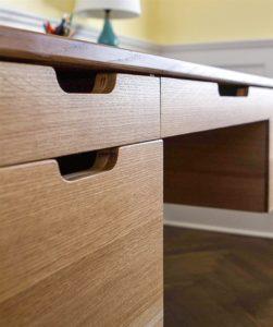 Mid Century 5-Drawer Desk drawer detail