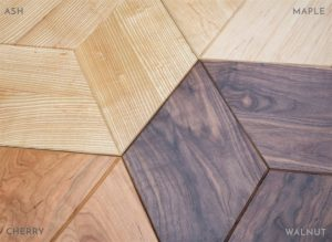 Rhombus Side Table Wood Options