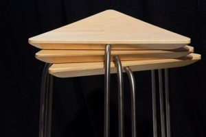 Triangular Stacking Side Table Set