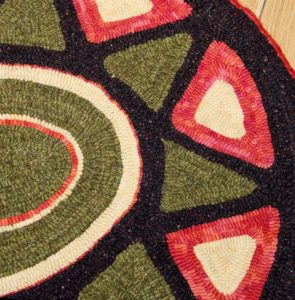 Star Burst Oval Throw Rug detail