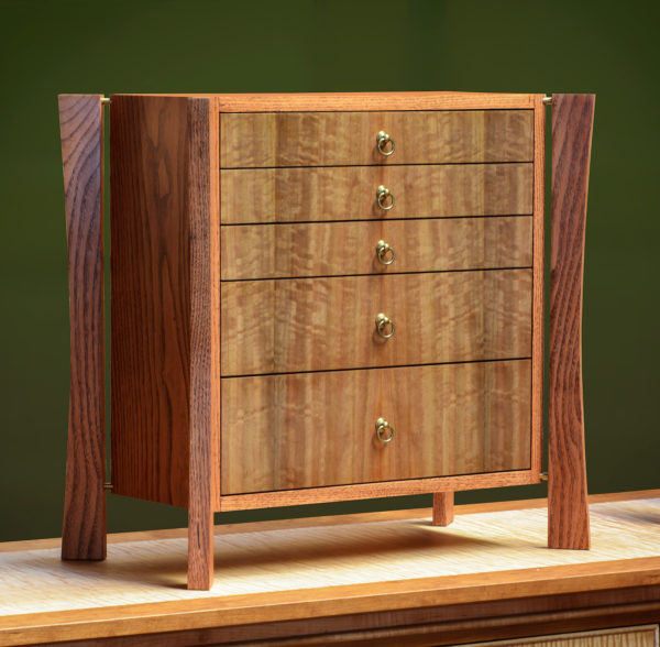 Five-Drawer Jewelry Armoire