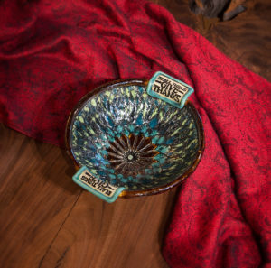Pressed Lace Bowl - In all things give thanks