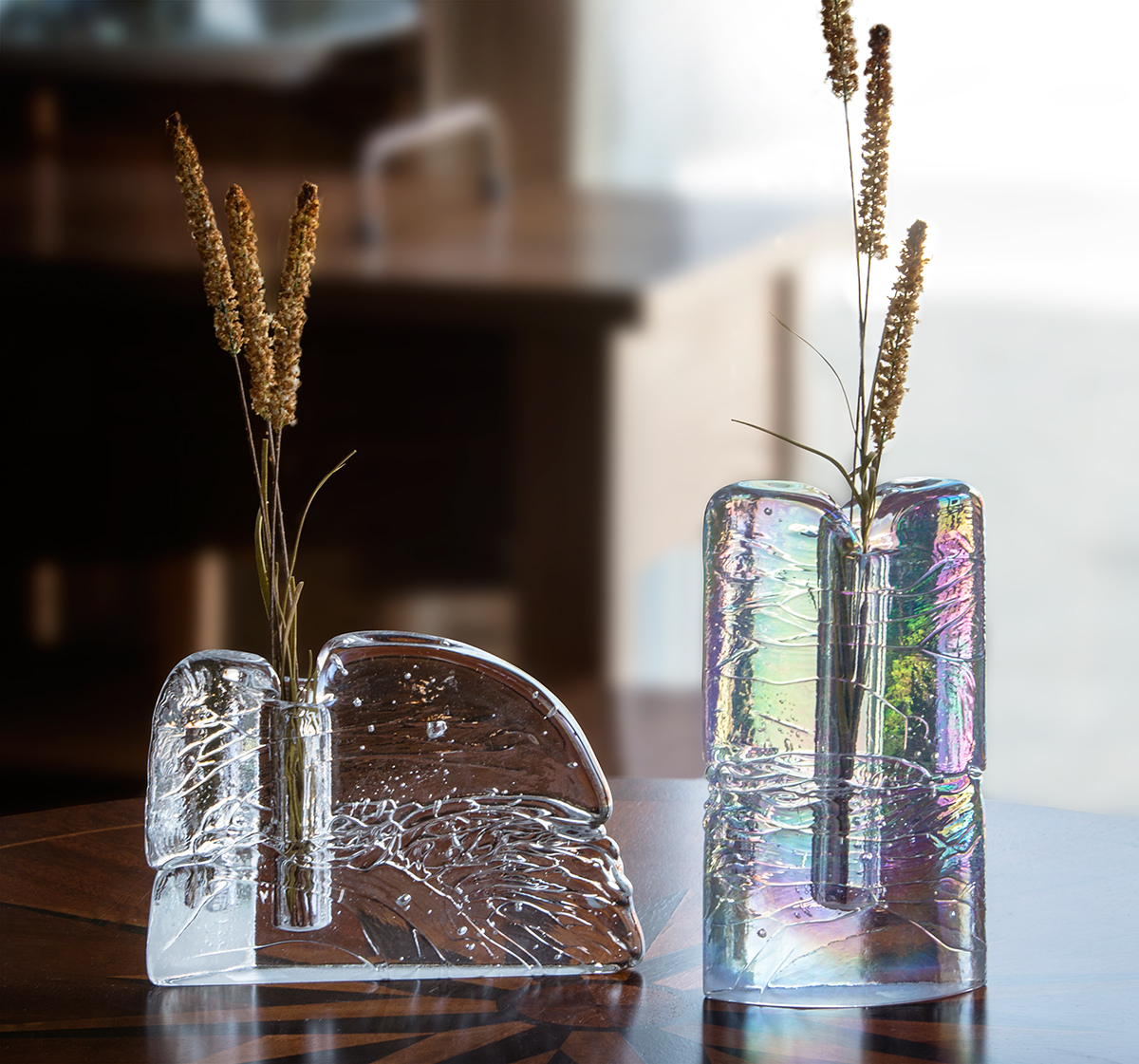 Handblown Glass Bud Vases by Joel