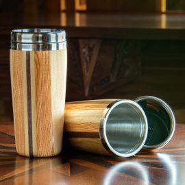 Wood Travel Tumbler