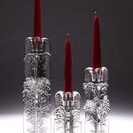 Three-sided glass candlesticks