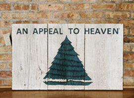 Reclaimed Barnwood Appeal to Heaven Flag