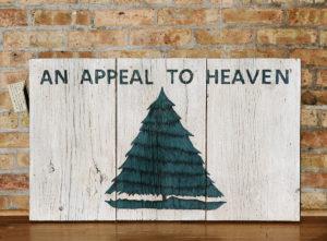 Reclaimed Barnwood Appeal to Heaven Flag