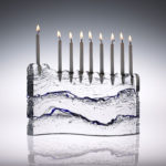 S Menorah with Blue Wave details