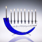 Shofar Menorah with Candles