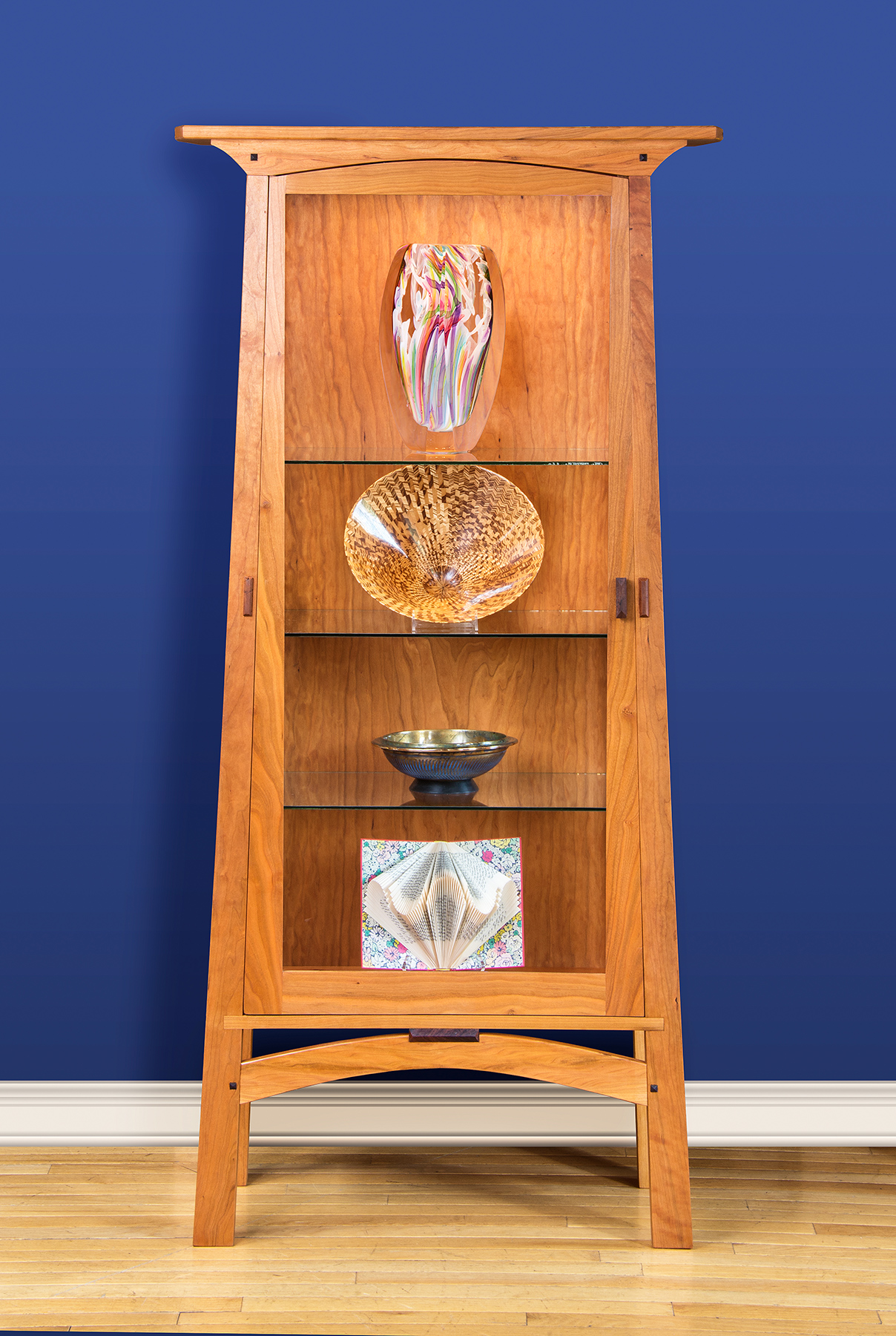 Handcrafted Lighted Display Cabinet