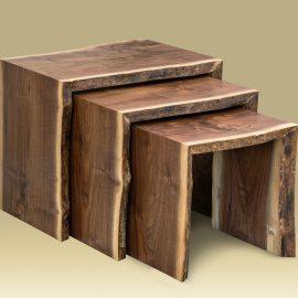 Walnut Nesting Table Set