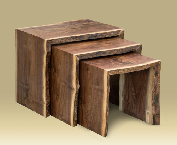 Walnut Nesting Table Set