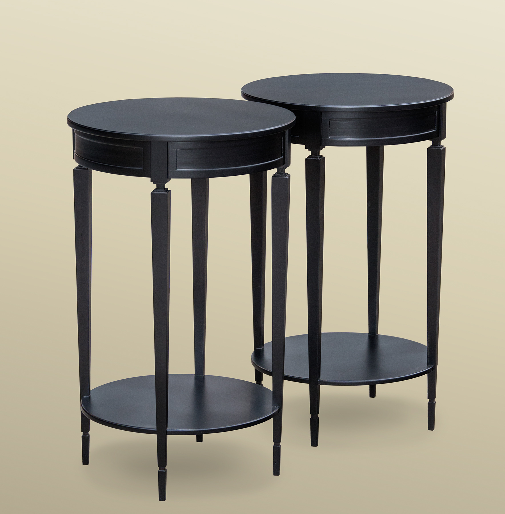 Drum Table Pair