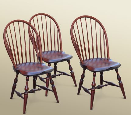 Set of Three Windsor Bowback Side Chair