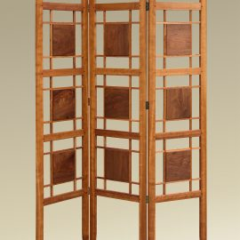 Cherry & Walnut Folding Screen