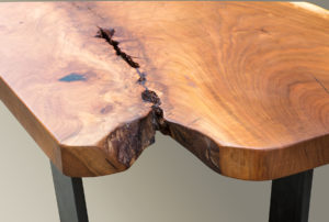 Live Edge Rustic Bench Detail