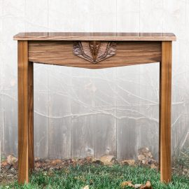 Sculpted Medallion Console Table