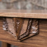 Sculpted Medallion Console Table detail