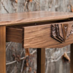 Sculpted Medallion Console Table drawer
