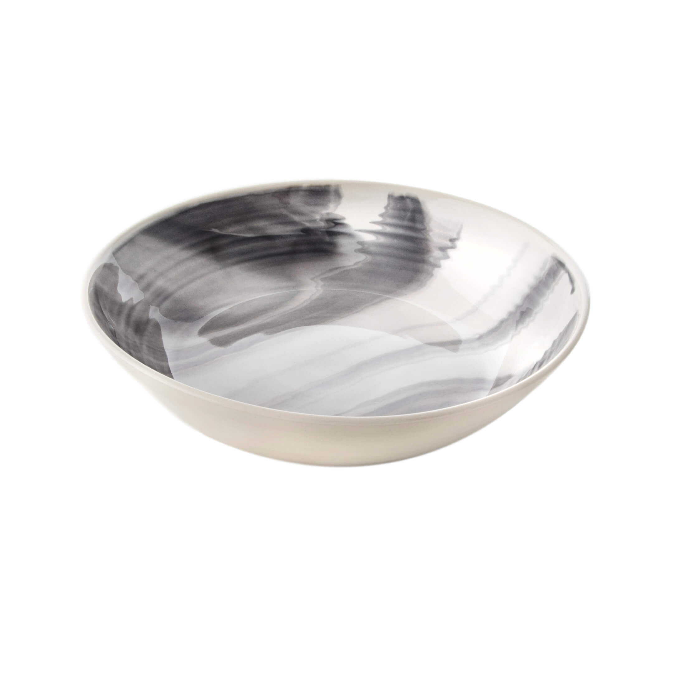 The Marble Stratus Gray Serving Bowl