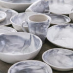 Marble Stratus Gray Dinnerware Collection