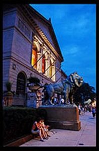 Art Institute of Chicago Under the Lions