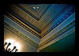Chicago Cultural Center Illuminated Corner