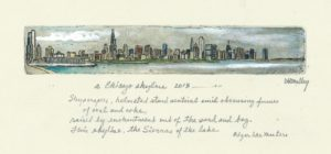 Chicago Skyline w Poem