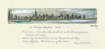 Chicago Skyline w Poem