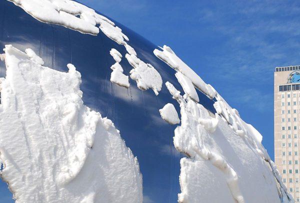 Cloud Gate Globe Reflection