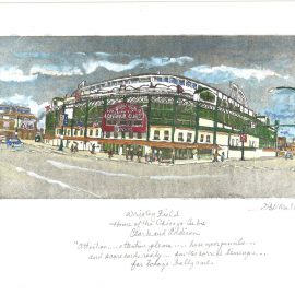 This is Wrigley Field with quote
