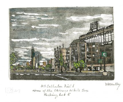 US Cellular Field Watercolor