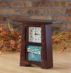 4x4 Dark Stained Oak Clock