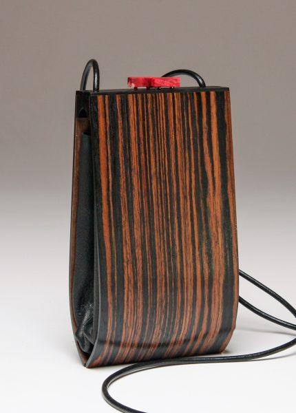 Alcea Ebony Wood Handbag