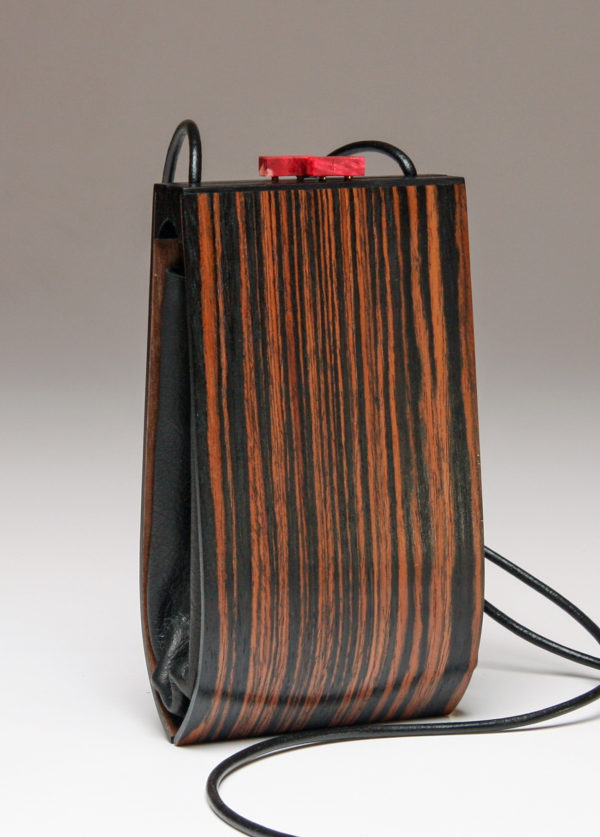 Alcea Ebony Wood Handbag