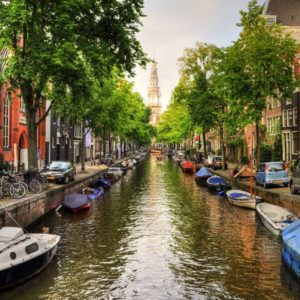 Amsterdam Canal Wooden Jigsaw Puzzle