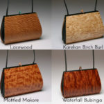 Calliandra Wood Handbag with single straps options