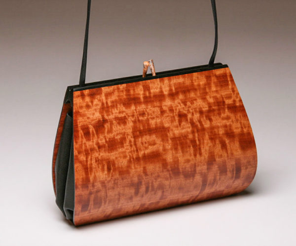 Calliandra Wood Handbag with 1 straps in Mottled Makore