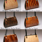 Calliandra Wood Handbag with 2 straps options