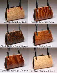 Calliandra Wood Handbag with 2 straps options