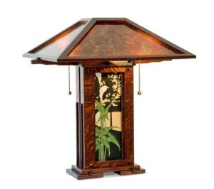 Dark Stained Oak Greene & Greene Table Lamp