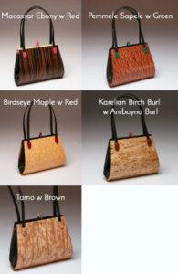 Emilia Wood Handbag Double Strap Options