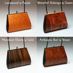 Emilia Wood Handbag Single Strap Options