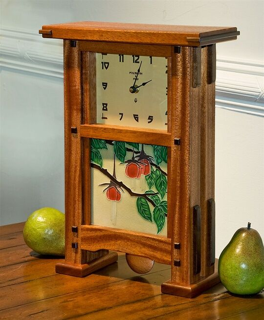 Greene & Greene Pendulum Tile Clock